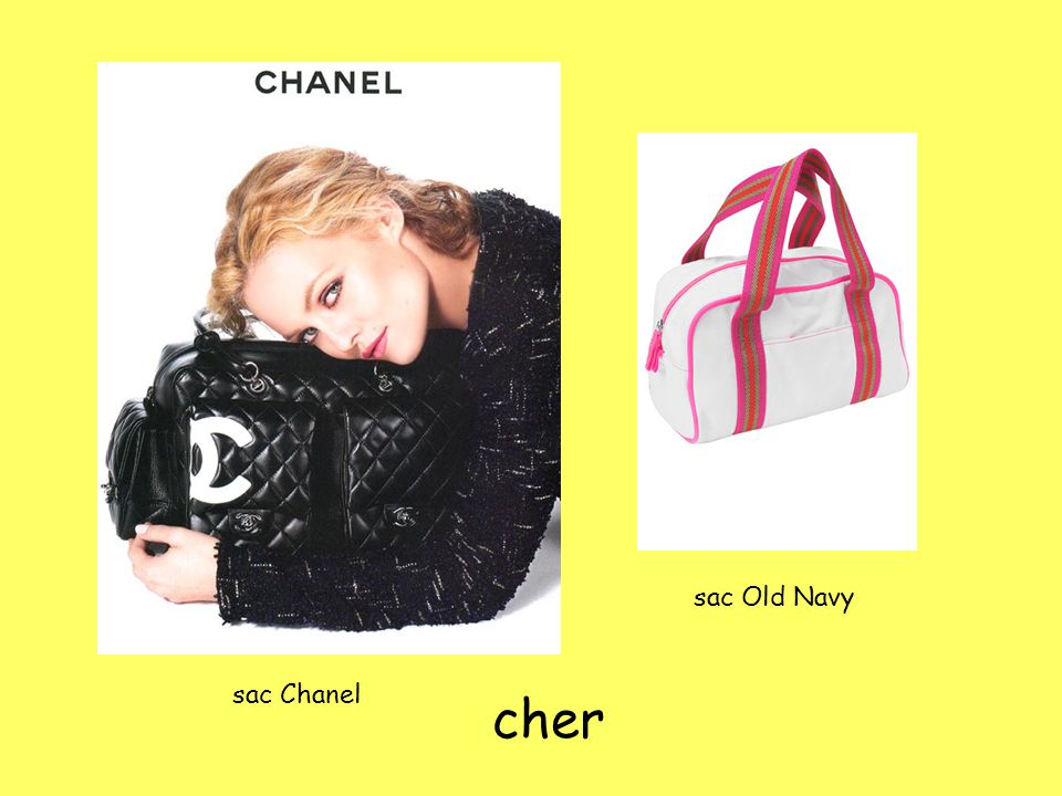 sac Chanel sac Old Navy cher
