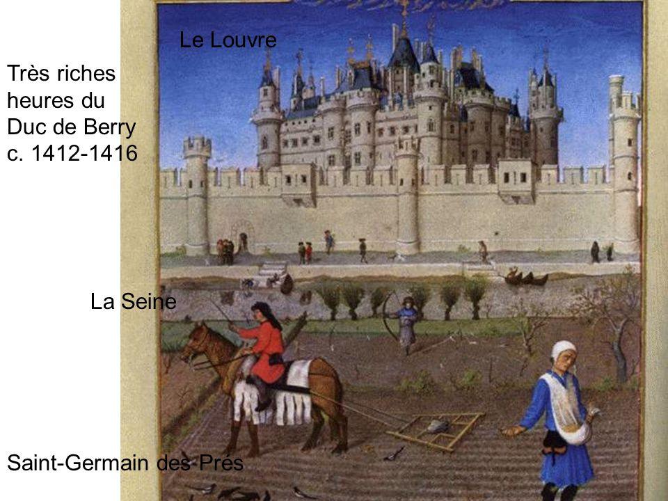 Le Louvre La Seine Saint-Germain des Prés Très riches heures du Duc de Berry c. 1412-1416