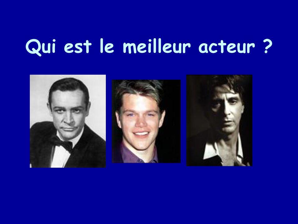 Qui est le meilleur acteur ?