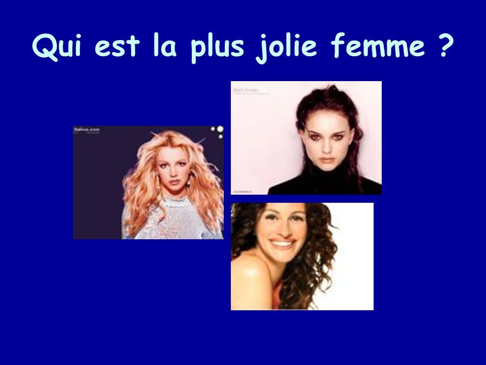 Qui est la plus jolie femme ?