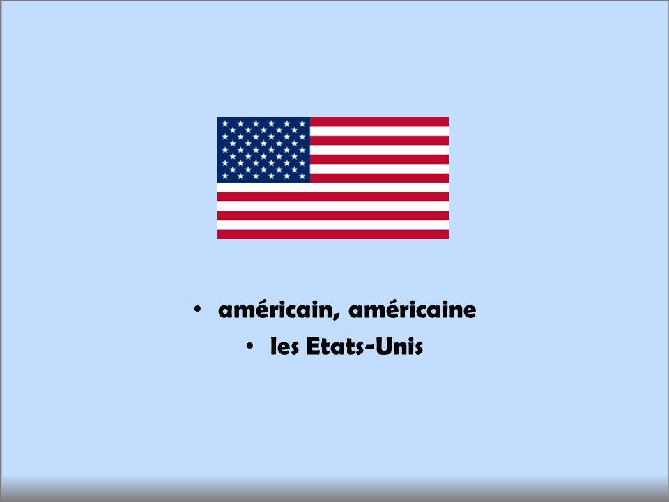 américain, américaine les Etats-Unis