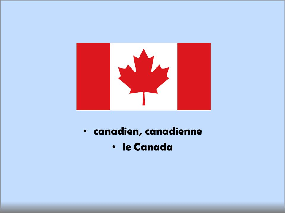 canadien, canadienne le Canada