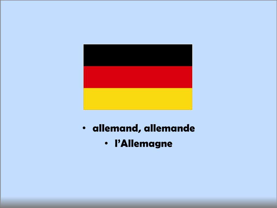 allemand, allemande lAllemagne