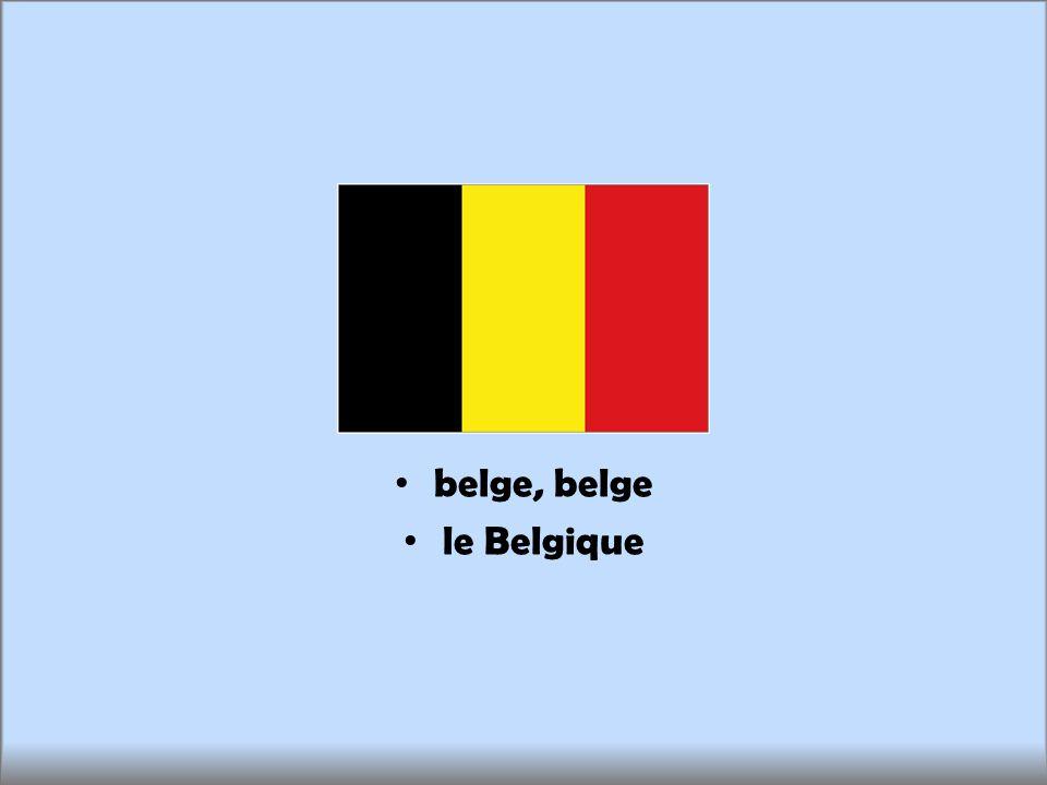 belge, belge le Belgique