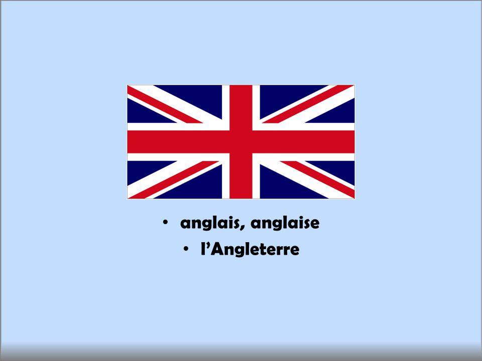 anglais, anglaise lAngleterre