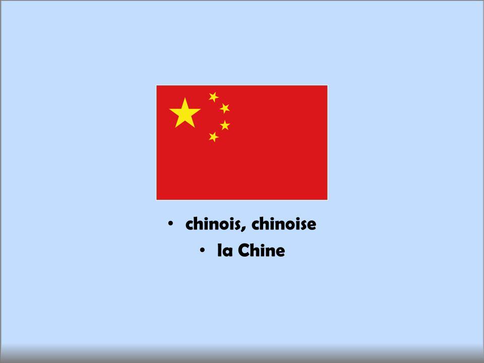 chinois, chinoise la Chine