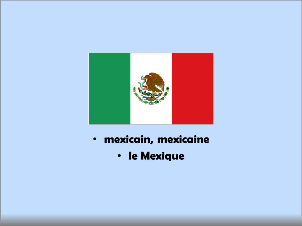 mexicain, mexicaine le Mexique