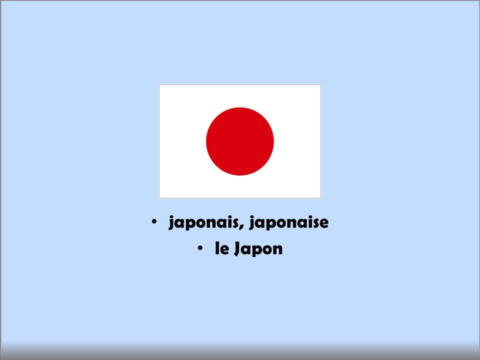 japonais, japonaise le Japon
