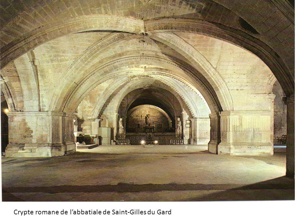 Crypte romane de labbatiale de Saint-Gilles du Gard