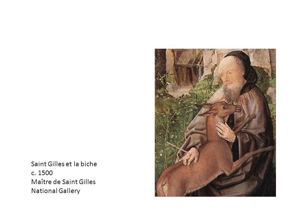 Saint Gilles et la biche c. 1500 Maître de Saint Gilles National Gallery