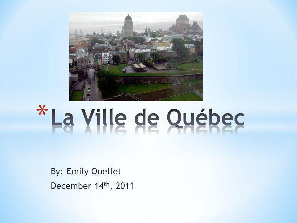 * La Ville de Québec est dans la Province de Québec au Canada.