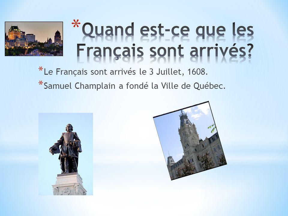 * La Ville de Québec est devenu indépendent le 1 Juillet, 1867.