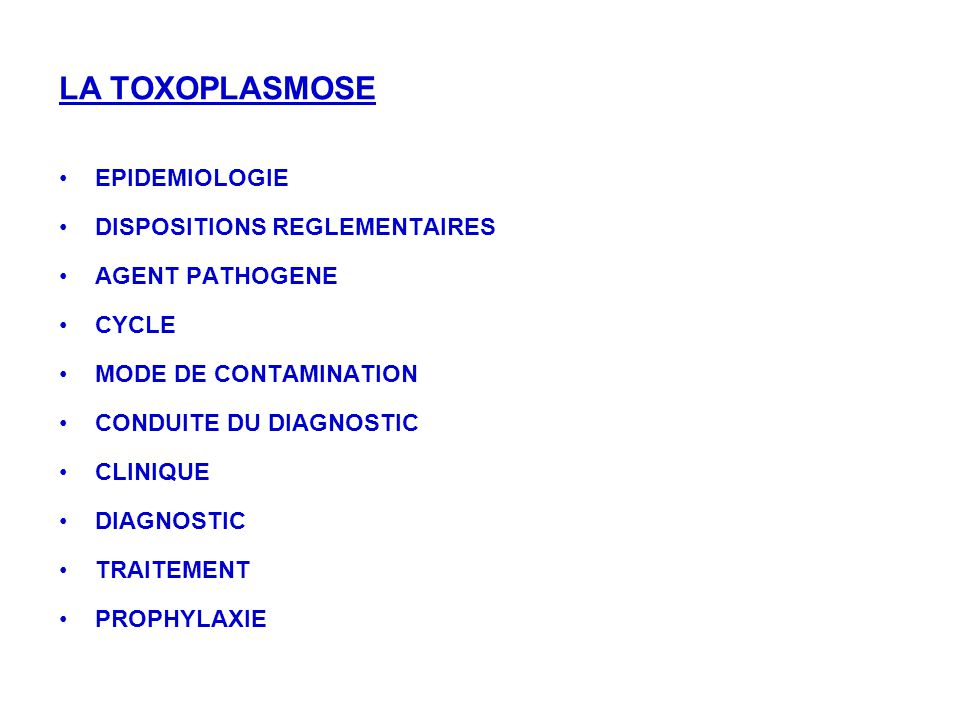 EPIDEMIOLOGIE DISPOSITIONS REGLEMENTAIRES AGENT PATHOGENE CYCLE MODE DE CONTAMINATION CONDUITE DU DIAGNOSTIC CLINIQUE DIAGNOSTIC TRAITEMENT PROPHYLAXI