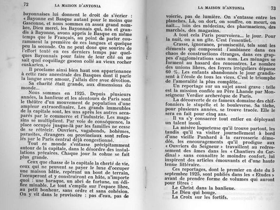 LE PÈRE PIERRE LHANDE Pierre Lhande était né à Bayonne, le 9 juillet 1877, au numéro 8 de la rue Argentine. Là, son père tenait un commerce. Il était