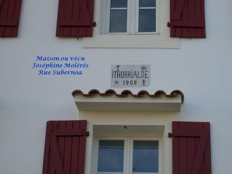 Maison ou vécu Joséphine Molérès Rue Subernoa