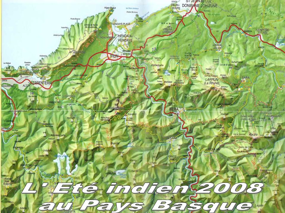 Vue sur Urrugne Socoa et St jean de Luz