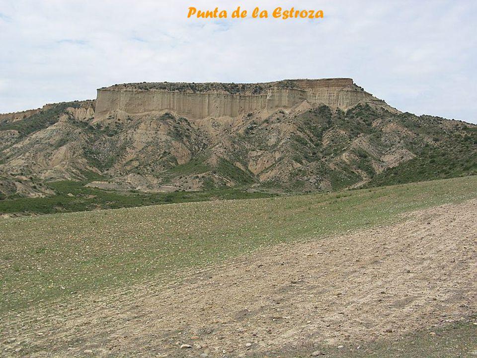 Vu de Punta de la Estroza Bardena Blanca Baja