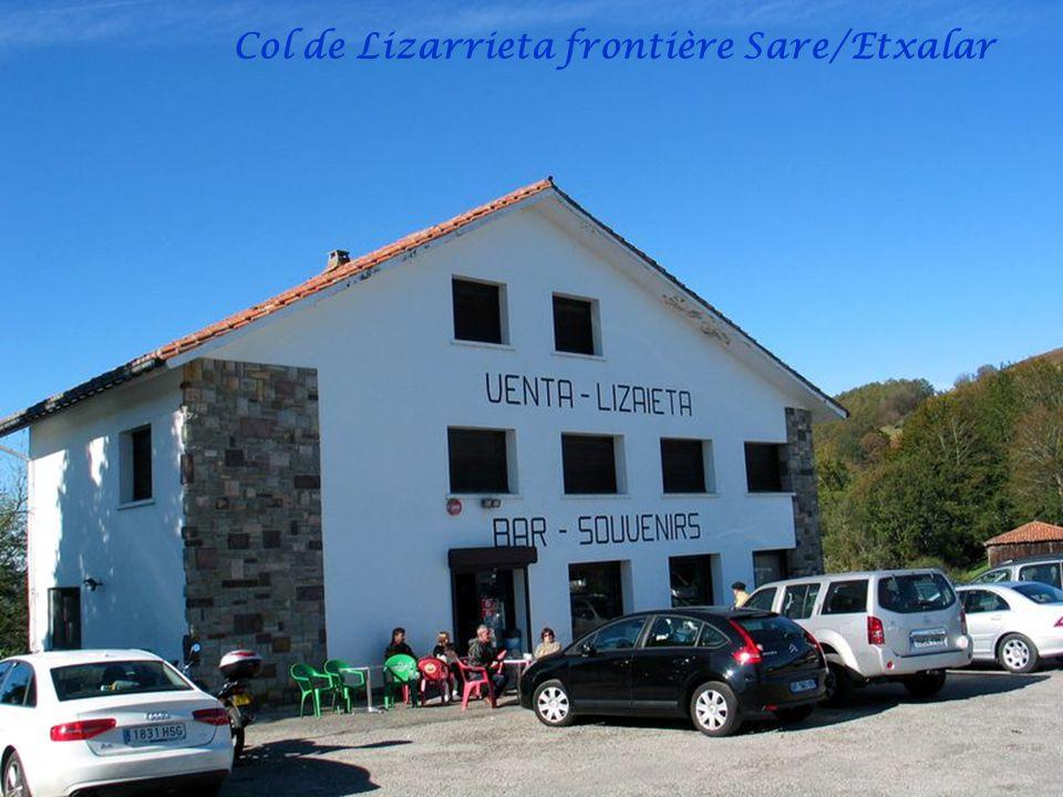Col de Lizarrieta frontière Sare/Etxalar