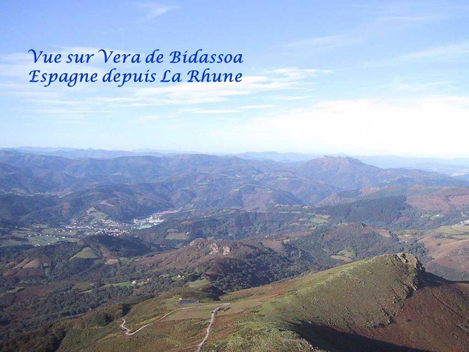 Vue sur la Baie de St jean de Luz depuis La Rhune