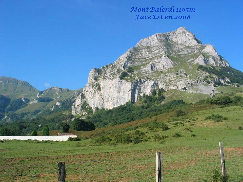 Balade du 04/10/2012 au Mont BALERDI 1195m Balerdi mendia (Mallozar ere deitua) Aralarko mendizerran dago 1195 metroko garaiera du.