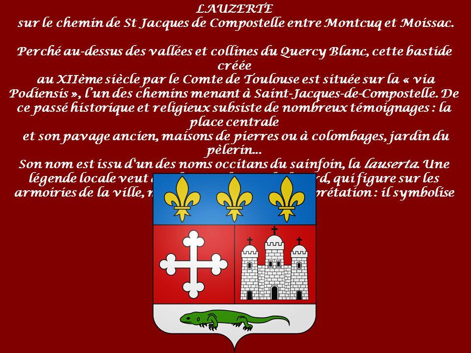 LAUZERTE sur le chemin de St Jacques de Compostelle entre Montcuq et Moissac.