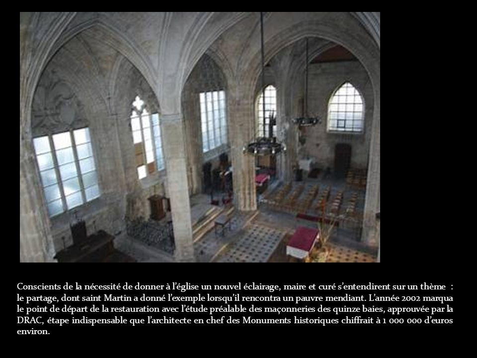 Depuis près de cent ans, léglise d Harfleur attendait une vitrerie neuve puisquelle avait perdu les verrières peintes par Drouin, quand lexplosion dune usine, surnommée « la poudrière belge », avait fait sauter, en 1915, presque tous ses verres.