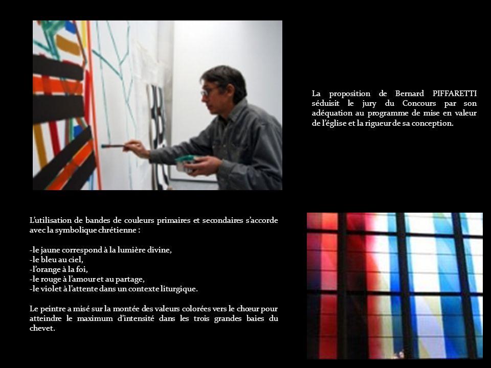Un concours fut organisé, auquel participèrent plusieurs artistes, et qui fut remporté par Bernard PIFFARETTI, à qui fut confiée la réalisation de l opération.