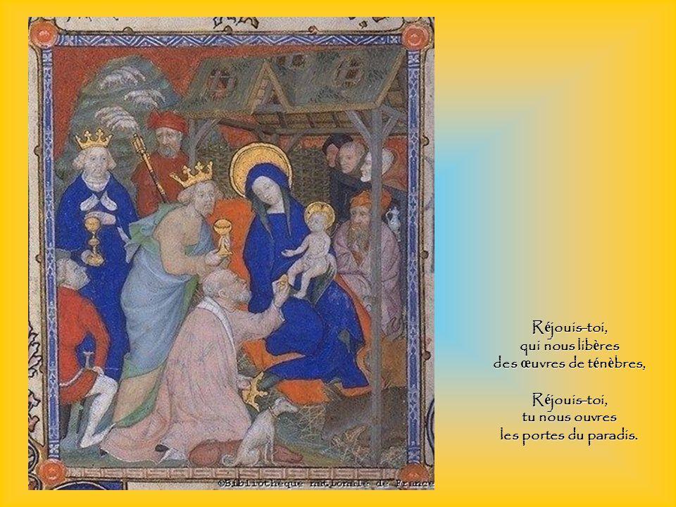 R é jouis-toi, m è re de l Agneau et du pasteur, R é jouis-toi, bergerie de l unique troupeau,