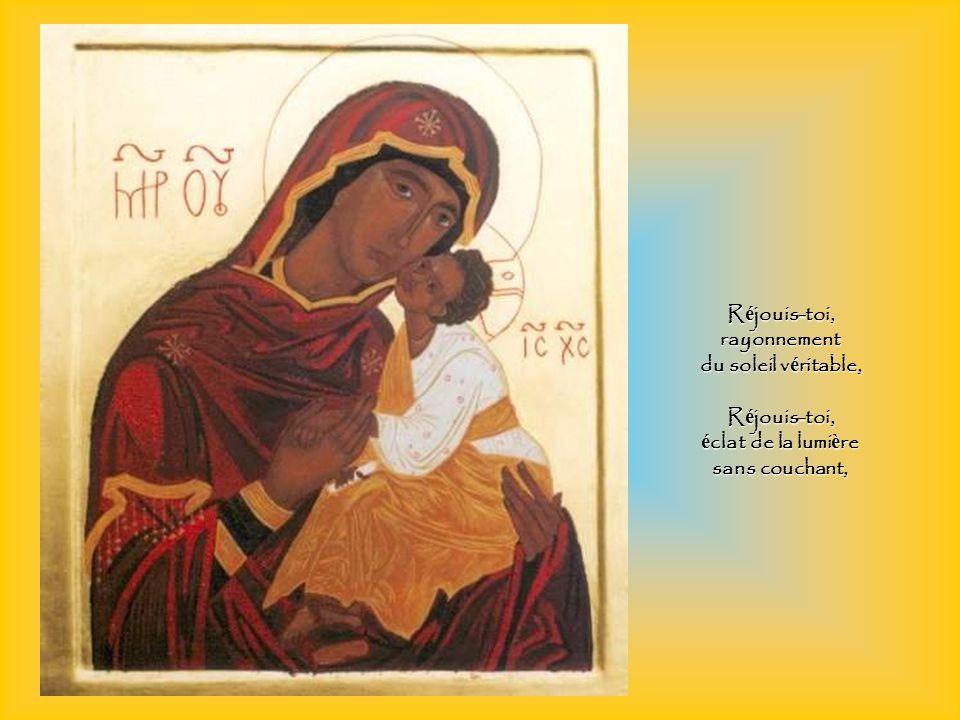 R é jouis-toi, cl é du royaume du Christ et porte du ciel, R é jouis-toi, esp é rance des biens é ternels.