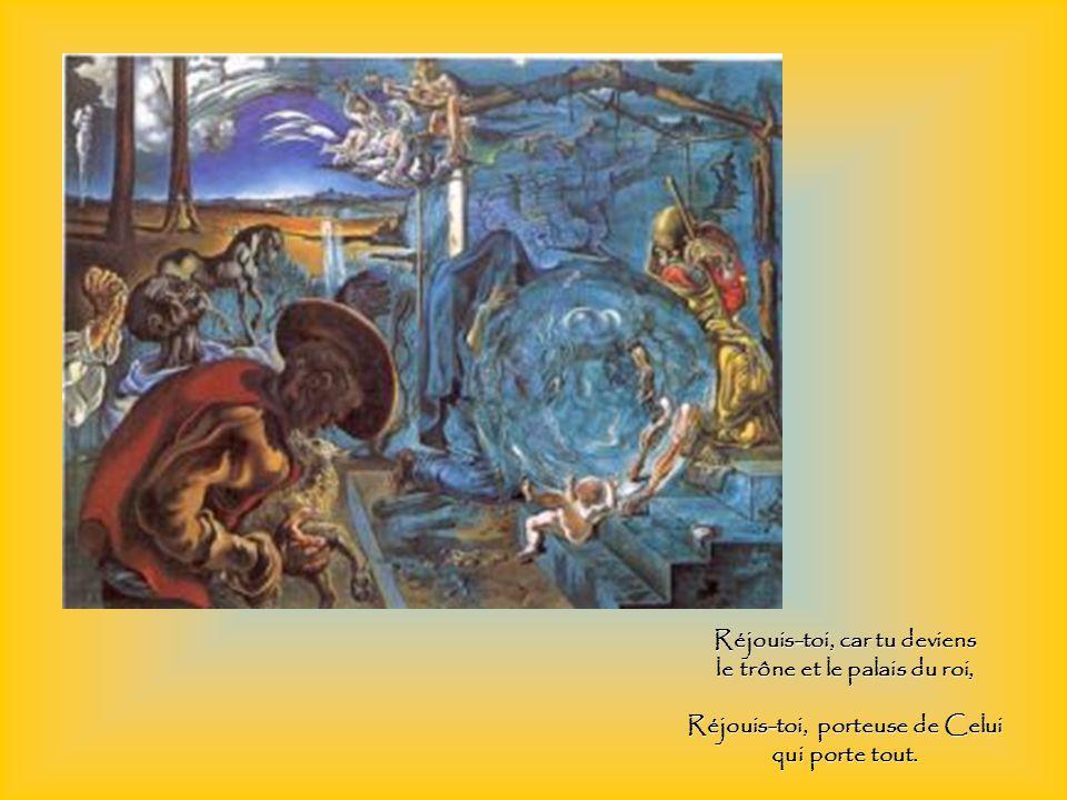 Réjouis-toi, montagne inaccessible aux pensées des hommes, Réjouis-toi, abîme impénétrable même aux anges,
