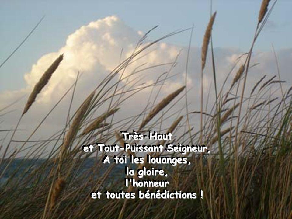 Très-Haut et Tout-Puissant Seigneur, A toi les louanges, la gloire, l honneur et toutes bénédictions !