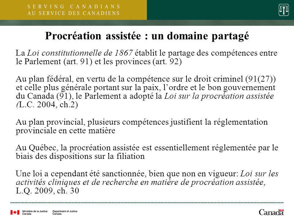 3 Loi sur la procréation assistée (L.C.2004, ch.