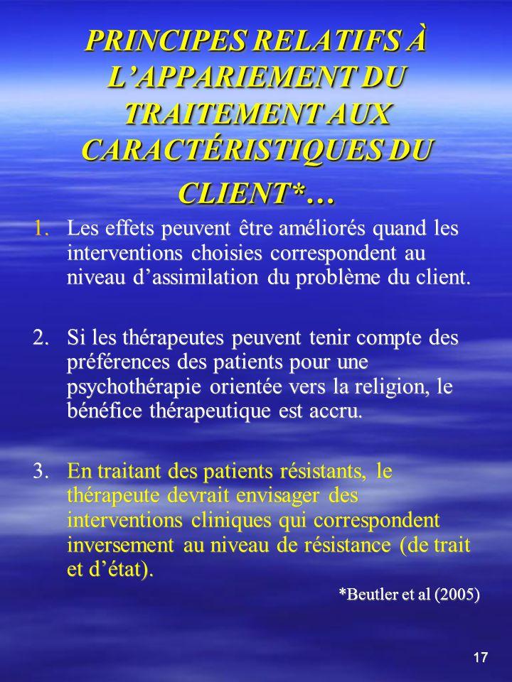 PRINCIPES CONCERNANT LA PRONOSTIC DES PATIENTS INDÉPENDAMMENT DU MODE DE TRAITEMENT* suite 5.