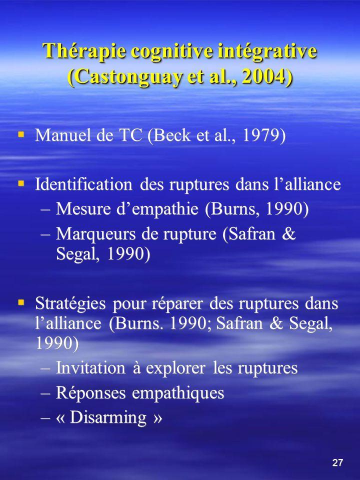 Le technique et le relation dans la thérapie psychodynamique (Schut et al.