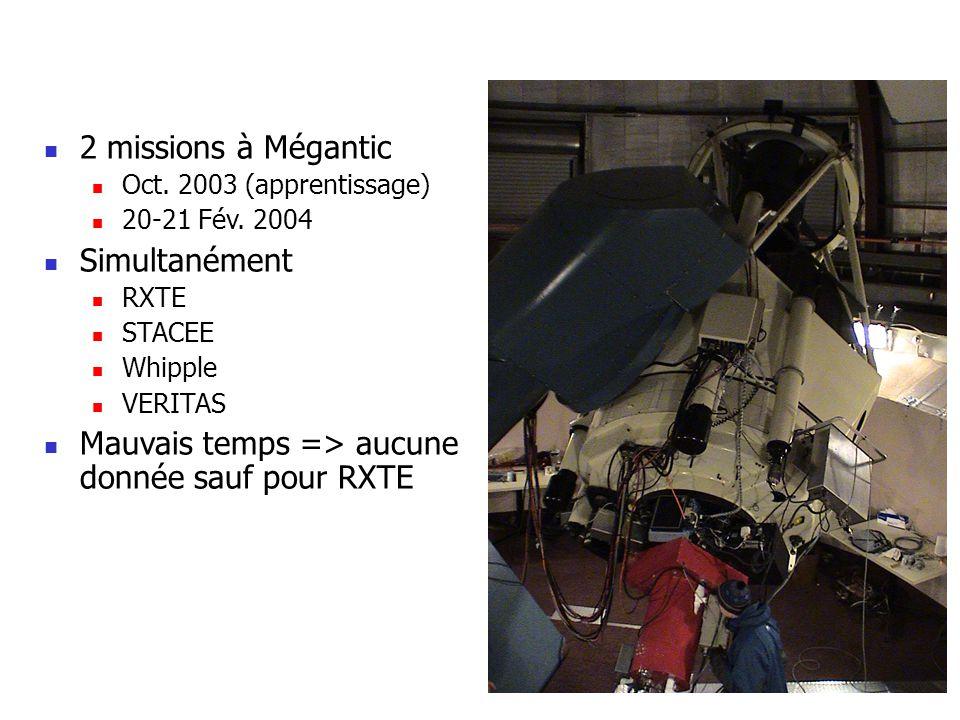 2 missions à Mégantic Oct.2003 (apprentissage) 20-21 Fév.