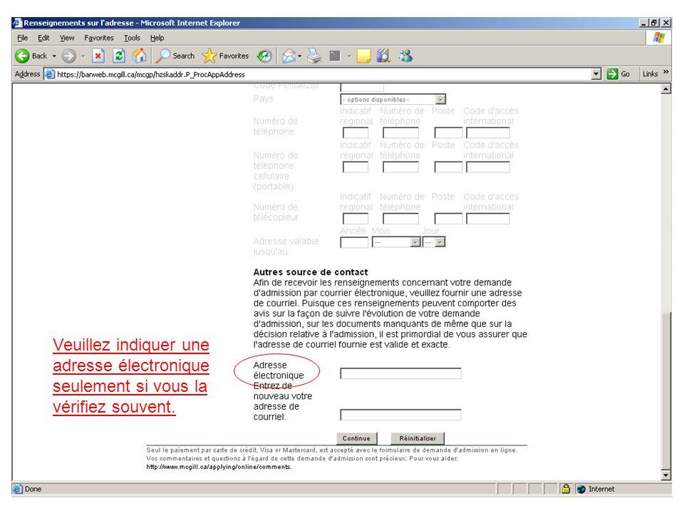 Sur cette page « Tests », si vous n avez jamais écrit un des examens nommés, vous devez cocher cette boîte afin de pouvoir procéder.
