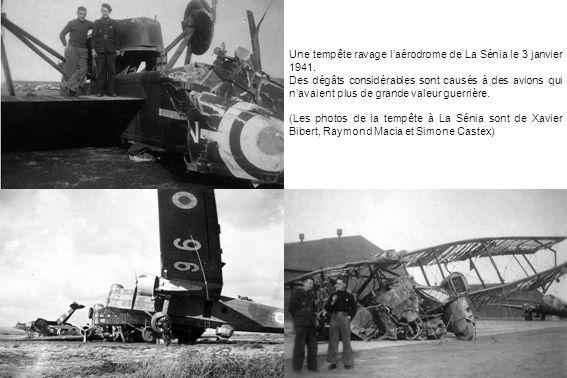 Une tempête ravage laérodrome de La Sénia le 3 janvier 1941. Des dégâts considérables sont causés à des avions qui navaient plus de grande valeur guer