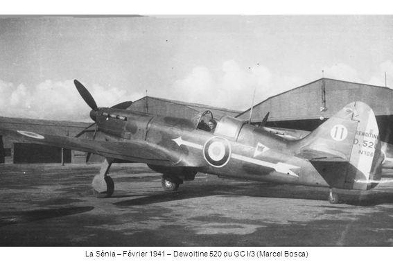 La Sénia – Février 1941 – Dewoitine 520 du GC I/3 (Marcel Bosca)