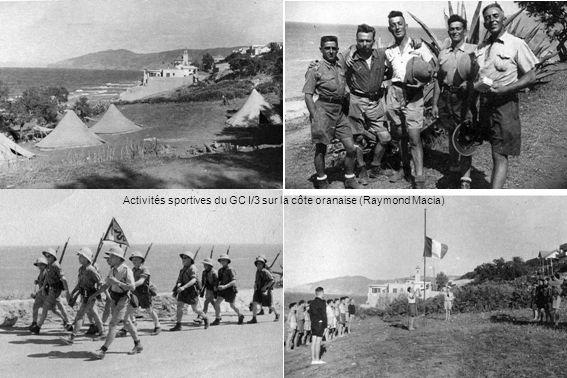 Activités sportives du GC I/3 sur la côte oranaise (Raymond Macia)
