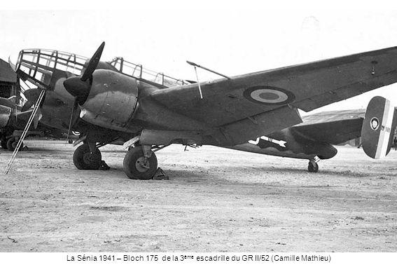 La Sénia 1941 – Bloch 175 de la 3 ème escadrille du GR II/52 (Camille Mathieu)