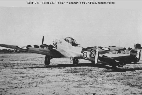 Sétif 1941 – Potez 63.11 de la 1 ère escadrille du GR I/36 (Jacques Mutin)