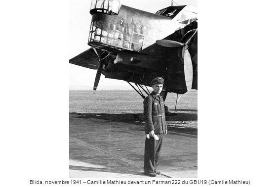 Blida, novembre 1941 – Camille Mathieu devant un Farman 222 du GB I/19 (Camile Mathieu)