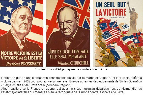 Le général Eisenhower commandant en chef des forces alliées (Allied Forces Headquarters), vu le 31 décembre 1943 à Alger