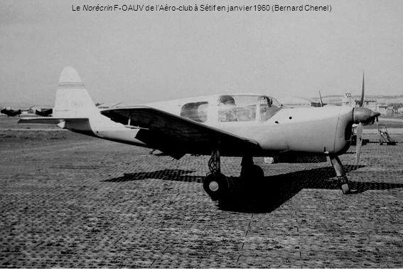 Le Norécrin F-OAUV de lAéro-club à Sétif en janvier 1960 (Bernard Chenel)