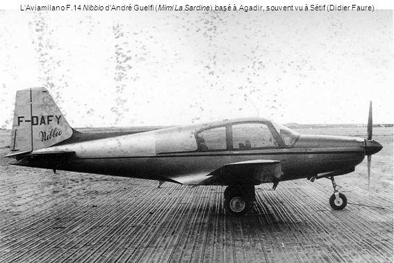 LAviamilano F.14 Nibbio dAndré Guelfi (Mimi La Sardine) basé à Agadir, souvent vu à Sétif (Didier Faure)