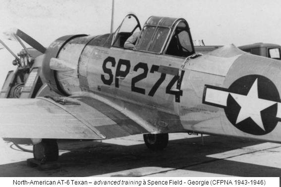 North-American AT-6 Texan – advanced training à Spence Field - Georgie (CFPNA 1943-1946)