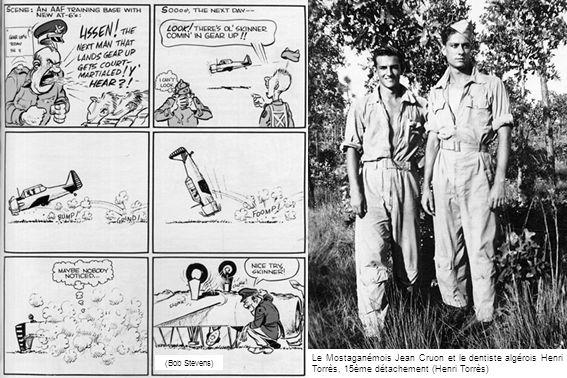 Le Mostaganémois Jean Cruon et le dentiste algérois Henri Torrès, 15ème détachement (Henri Torrès) (Bob Stevens)
