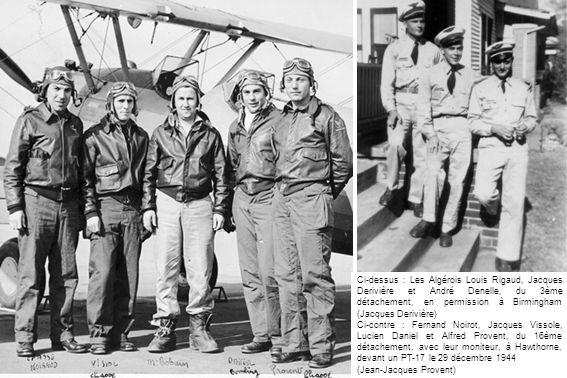 Ci-dessus : Les Algérois Louis Rigaud, Jacques Derivière et André Denelle, du 3ème détachement, en permission à Birmingham (Jacques Derivière) Ci-cont