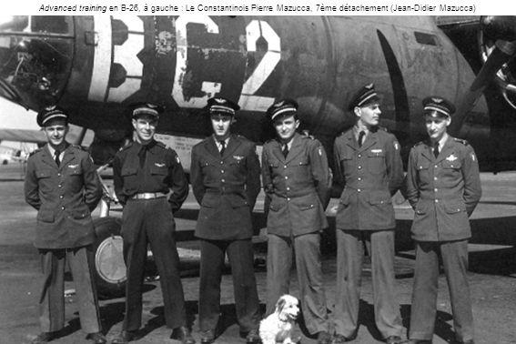 Advanced training en B-26, à gauche : Le Constantinois Pierre Mazucca, 7ème détachement (Jean-Didier Mazucca)