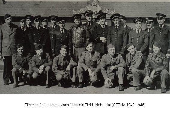 Elèves mécaniciens-avions à Lincoln Field - Nebraska (CFPNA 1943-1946)
